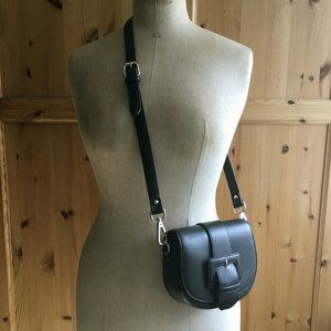 Black Crossbody Bag Belt Bag + Chain